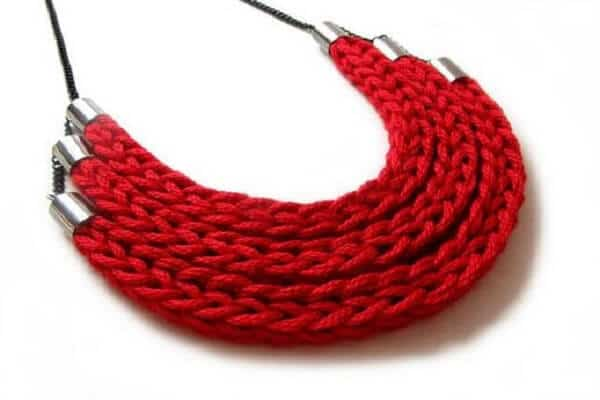 Knitting Project - Yarn Jewellery